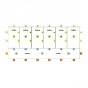 Volière d'élevage modulable 6 x 3 x 2  M avec couloir