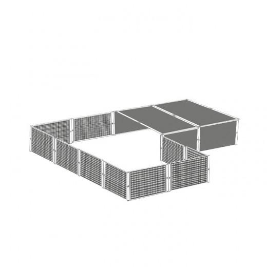 Parc en panneaux galvanisés 4x2x0.5 M