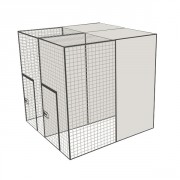 Volière modulable 6x2x2 m - Petite porte