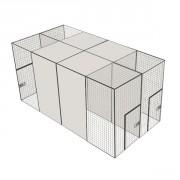 Volière d'élevage 400 - 4x2 m - 4 compartiments