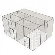 Volière d'élevage 300 - 4x3m  - 2 compartiments - Avec ou sans couloir