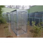 Volière modulable 1x2x2 -  Toit grillagé - Grande porte