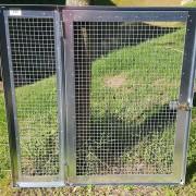 Panneau de volière galva - Petite porte - 95x95 cm