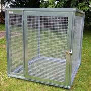 Volière modulable 1x1x1 M -  Toit plein - Petite porte