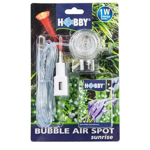 Diffuseur d''air à led Bubble air spot Hobby - Rouge