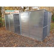 Volière modulable 1x3x2 M -  Partie abritée - Petite porte