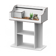 Offre kit Terrarium + Meuble terra tortum 100 gris veine