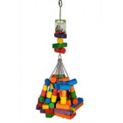 Jouet bois multicolore gros cubes 76 cm