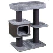 Arbre à chat gris 92x56x104cm