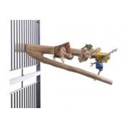 Perchoir en bois de Java avec jeux en bois