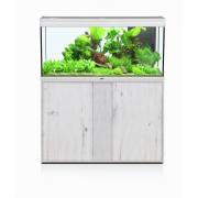 Aquarium Elegance Expert 120 + meuble effet chêne blanc