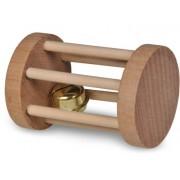Jouet rongeur bois carotte 9,5cm & rouleau 7cm (2)