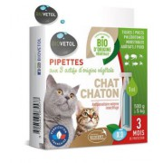 Pipettes Insectifuges Chat/Chaton BIO 1ml x3