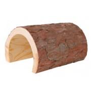 Tunnel en bois d'écorce pour reptiles, lapins et rongeurs