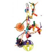 Jouet perruche boules avec cordes 16 x 30 cm
