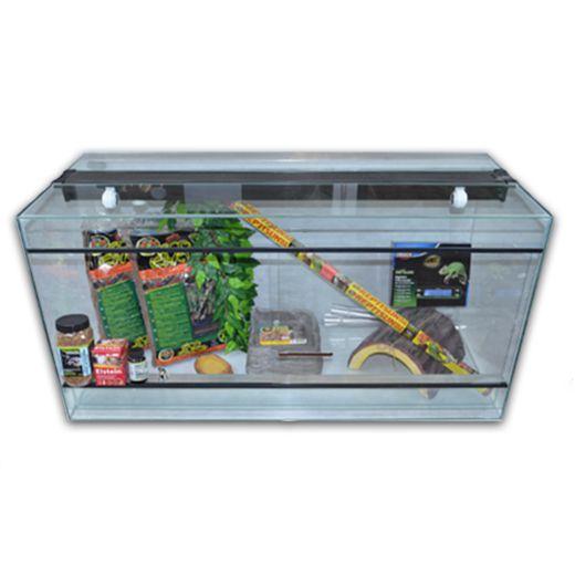 Kit terrarium verre 120cm pour tortue jusqu'à 20cm