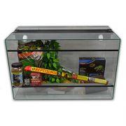 Kit Terrarium Verre 80 pour tortue jusqu'à 10cm