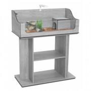 Aquarium + Meuble terra tortum 75 gris veine