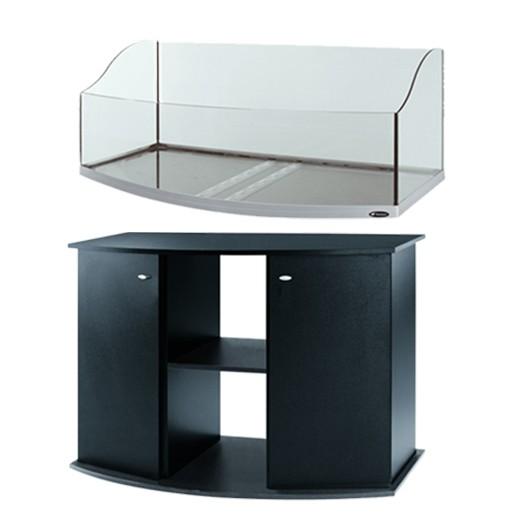 Offre kit Aquarium et meuble noir - Jamaica 110 scenic ferplast