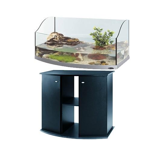 Offre kit Aquarium et meuble noir - Jamaica 80 scenic ferplast