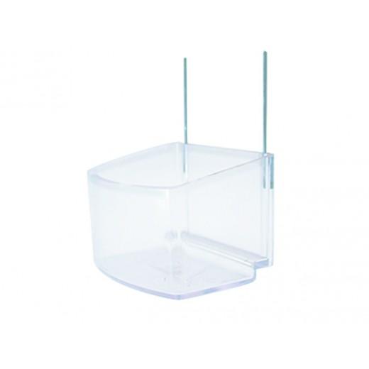 Mangeoire plastique perruche transparent