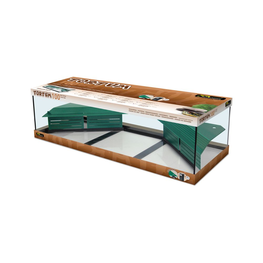 Vivarium tortue d 39 eau tortum 100 avec filtre noir for Aquarium tortue