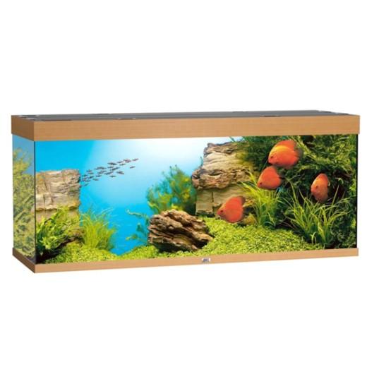 Aquarium Rio 400 hêtre, 151x51x66 cm