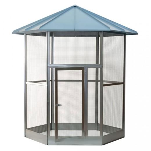 Volière hexagonale galvanisé 250 x 191 cm