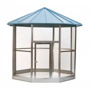 Volière hexagonale galvanisé 265 x 249 cm