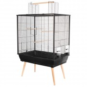 Cage perruches NEO Jili noir, L78 x P48 x H112 cm