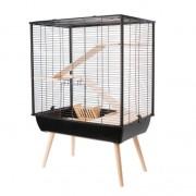 Cage neo cosy grand rongeur l 77.5 x p 47.5 x h 109 cm noire
