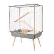 Cage neo cosy grand rongeur l 77.5 x p 47.5 x h 109 cm grise