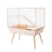 Cage neo muki grand rongeur l 77.5 x p 47.5 x h 87.5 cm beige