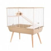 Cage neo silta petit rongeur l 77.5 x p 47.5 x h 87.5 cm beige