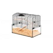 Cage neo panas petit rongeur l 52 x p 28.5 x h 40 cm noire