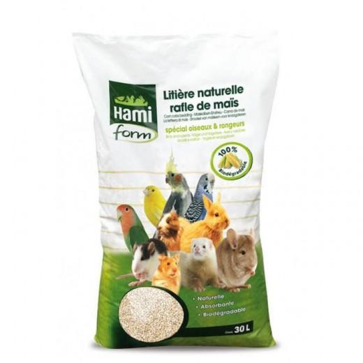 Litière naturelle rafle maïs 30 litres rongeurs/oiseaux