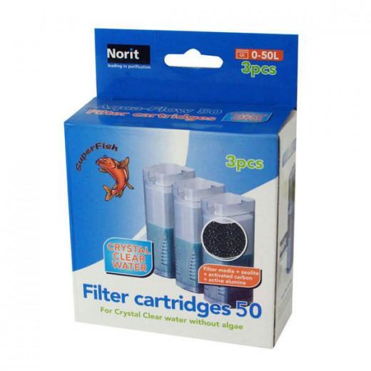 Cartouche de filtration pour Aquaflow 50, 3 pièces