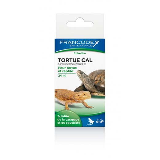 Calcium liquide Tortue cal Francodex, 24 ml