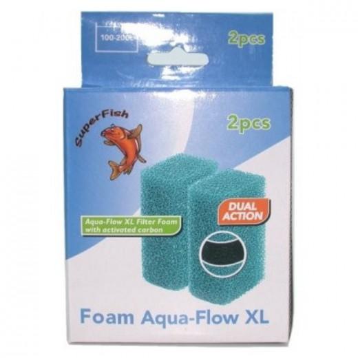 Mousse de filtration Aquaflow XL, 2 pièces