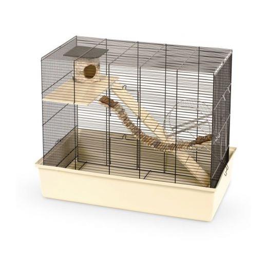 Cage rongeur Ciop 80 Nature noir/beige 80x45x60cm