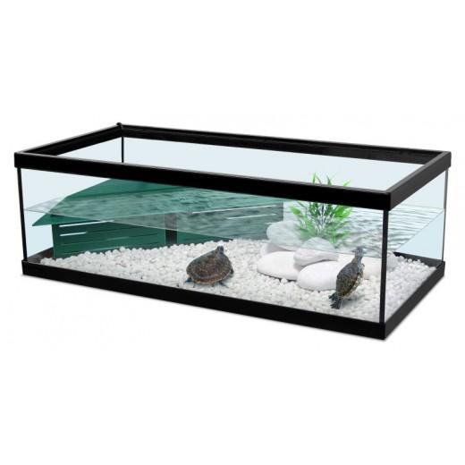 Vivarium Tortue d''eau Tortum 75 avec filtre - Noir 75x36x25 cm