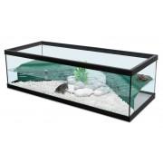 Aquarium Tortue d''eau Tortum 100 avec filtre - Noir 104x40x30 cm