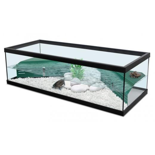 Aquarium Tortue d''eau Tortum 100 avec filtre - Noir 100x40x30 cm