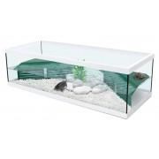 Aquarium Tortue d'eau Tortum 100 avec filtre - Blanc 104x40x30 cm