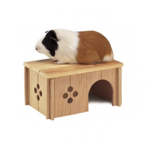 Maisonette en bois pour rongeur - Sin 4645