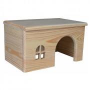 Maisonnette en bois pour cochon d'Inde