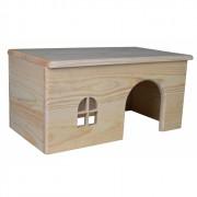 Maisonnette en bois pour lapins
