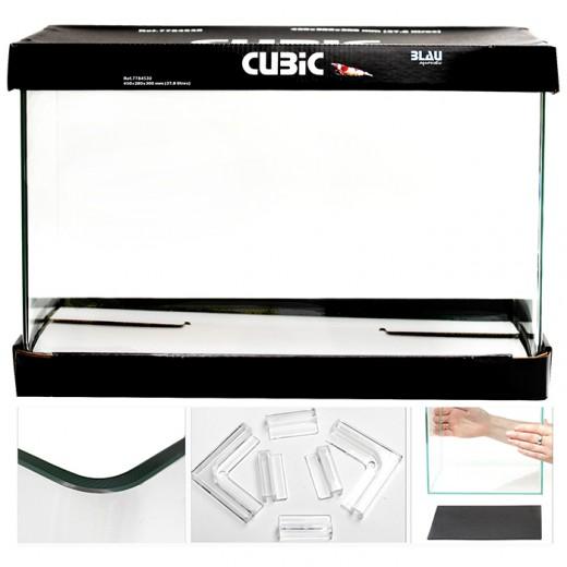 Aquarium Cubic 40x25x28 - 28 Litres