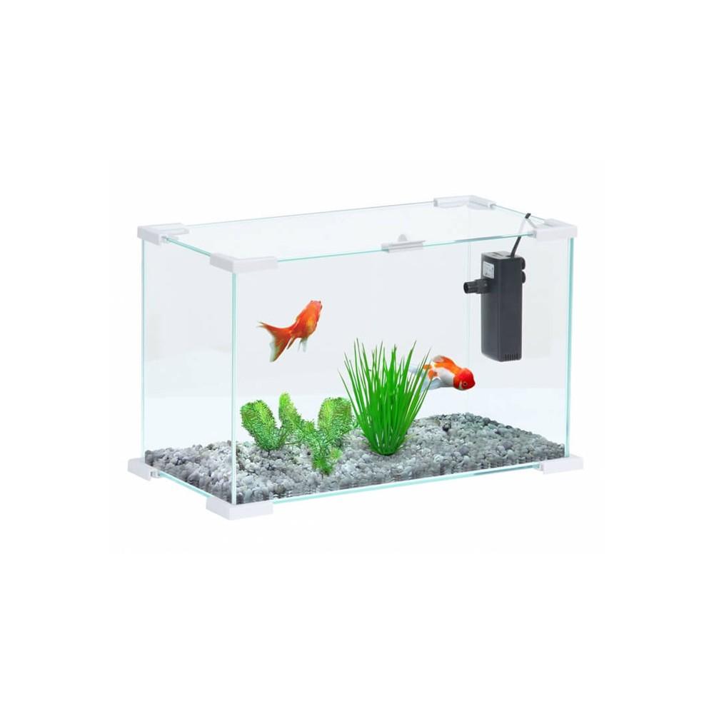 aquarium nanolife first 20 blanc. Black Bedroom Furniture Sets. Home Design Ideas