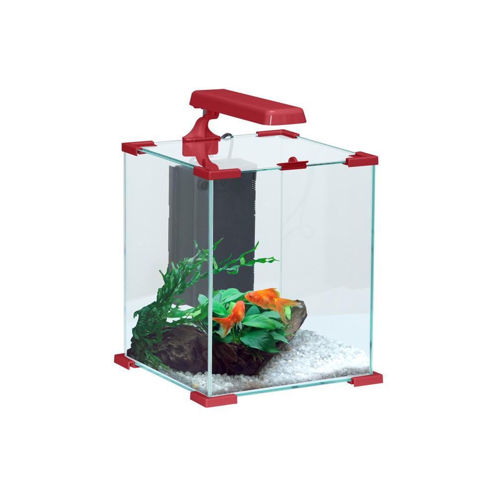 Aquarium nanolife cube rouge 50l for Aquarium 20l pour poisson rouge